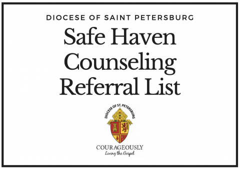 Safe Haven Counseling Referral List