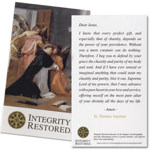 Saint Thomas Aquinas Prayer for Purity